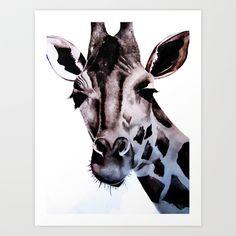 Giraffe Art Print by Natalie Murray - $18.00