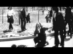 50 Influential Photographs That Changed Our World: Mary Ann Vecchio cries before recently deceased Jeffrey Miller moments after he was shot by the Ohio National Guard during the Kent State shootings Crosby Stills & Nash, Kent State University, School Shootings, American Soldiers, National Guard, Vietnam War, My Music, Music Film, American History