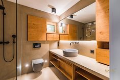 #bathroomideas #modernbathroom #countrystyle #modernesbad Waterfront Homes, Modern Bathroom, Country Style, Double Vanity, Bathtub, Architecture, Standing Bath, Funky Bathroom, Rustic Style