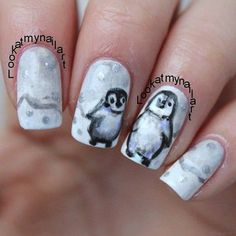 Normally I'm not a huge fan of character nail art, but these lil' guys are cute ;)