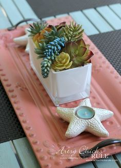 Annie Sloan Chalk Paint - It's Not Just For Furniture - metal tray - #chalkpaint #ascp #anniesloan artsychicksrule.com