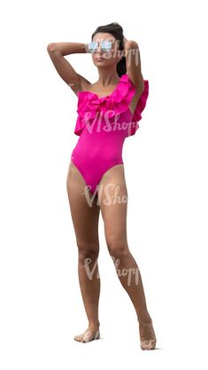 cut out woman in a pink swimsuit standing Cut Out People, Pink Swimsuit, Swimsuits, Woman, Style, Fashion, Swag, Moda, Fashion Styles