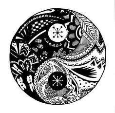 Zentangle yin/yang tattoo -CC