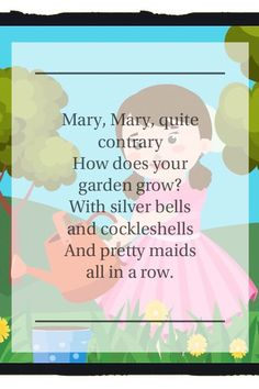mary mary quite contrary latest version - 2019 - Nursery Rhymes with Lyrics Free Nursery Rhymes, Nursery Rhymes Lyrics, Songs For Toddlers, Kids Songs, Youtube Videos For Kids, Mary Mary, 2 Year Olds, Songs To Sing, Maid