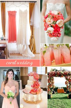 Coral Wedding ... Wedding ideas for brides, grooms, parents & planners ... https://itunes.apple.com/us/app/the-gold-wedding-planner/id498112599?ls=1=8 ... THE LATEST APP THAT EVERY BRIDE NEEDS ... The Gold Wedding Planner iPhone App ♥
