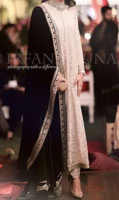 At the mayun - pakistani fashion - Indian Pakistani Formal Dresses, Indian Gowns Dresses, Shadi Dresses, Pakistani Dress Design, Pakistani Wedding Outfits, Pakistani Fashion Party Wear, Pakistani Couture, Indian Couture, Dresses Dresses