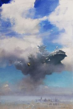 JOHN HARRIS The End Of All Things Oil on Canvas 24″ x 36″