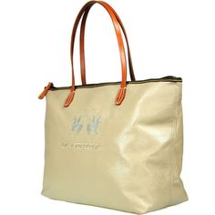 Shopping bag in tessuto e cuoio La martina 09412f3a04b