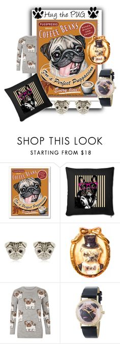 """""""Pug Love"""" by sabine-promote ❤ liked on Polyvore featuring Brooks, Hop Skip & Flutter, WearAll and Whimsical Watches"""