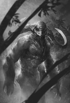 dark forest creature sketch by *Alejandro-Mirabal Inspiration for Shades of Evenfall, dark vampire fantasy by LD Bloodworth. Horror Art, Character Art, Fantasy Creatures, Forest Creatures, Art, Fantasy Monster, Monster Art, Dark Fantasy Art, Dark Creatures