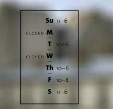 opening hours design - Google Search