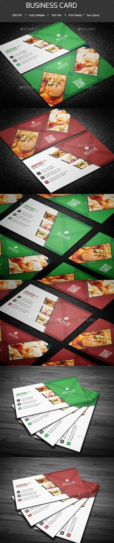 Restaurant Business Card — Photoshop PSD #indesign #eps file • Available here → https://graphicriver.net/item/restaurant-business-card/14081375?ref=pxcr