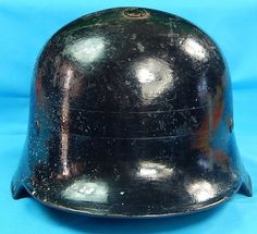 German Germany WWII WW2 Fireman Firefighter Helmet
