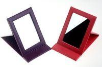 rectángulo lindo espejo de maquillaje plegable portátil de bolsillo compacto Espejo cosmético para mujeres de la muchacha de 2 colores el envío libre elección