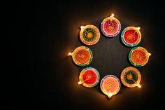 Happy Diwali -hindu Festival, Colorful Traditional Oil Lamp Diya On Black Diwali Hindu, Diwali Diy, Diwali Festival Of Lights, Diwali Lights, Happy Diwali, Diwali Decoration Items, Diwali Lamps, Christmas Lights Background, Diwali Images