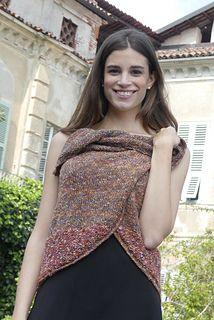 aaf136dc1 Ravelry  Rebecca Knit Wrap Vest pattern by Filatura Di Crosa Italia s.r.l.  hand knitting patterns