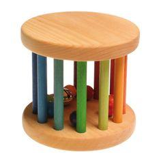 [Grimm's Spiel & Holz Design グリムス社]ベービーローラー ナチュラル ドイツ・グリムス社の転がすとカラカラ♪楽しい音がする赤ちゃんの木のおもちゃです。