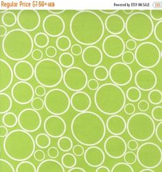"""ON SALE 108"""" Quilt Backing, Spot On by Robert Kaufman, Spot On, Lime Green Fabric, Chartreuse Fabric, Circle Fabric, 03059"""
