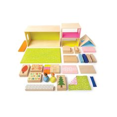 Manhattan Toy MiO Playing Eating Sleeping Working + 2 People Modular Building Set, Multicolor