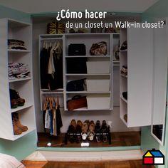 ¿Cómo hacer de un clóset un walk-in clóset? #HUM #HágaloUstedMismo #DIY #Sodimac #Homecenter