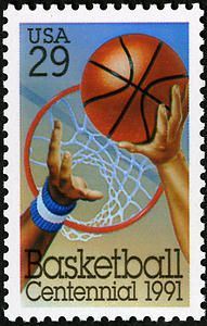 The 29-cent Basketball stamp commemorated the 100th anniversary of basketball and was issued on August 28, 1991 in Springfield, Massachusetts, home of the Basketball Hall of Fame and birthplace of the sport.