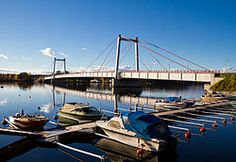 1955 Strömsund Bridge in Sweden is completed, being the first significant cable-stayed bridge of the modern era.