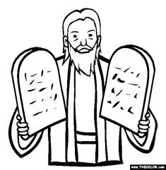 Ten Commandments Online Coloring Page