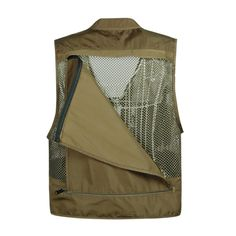 Mens Breathable Mesh Multifunctional Pockets Waistcoast Quick Dry Outdoor Fishing Sleeveless Vests is personalized, see other cheap mens vest on NewChic. Fishing Vest, Fish In A Bag, Vest Jacket, Vest Men, Polo T Shirts, Mesh, Coat, Pockets, Multifunctional