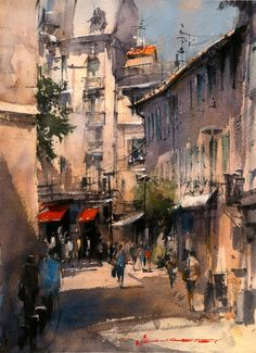 "Vladislav Yeliseyev, ""Avignon street""."