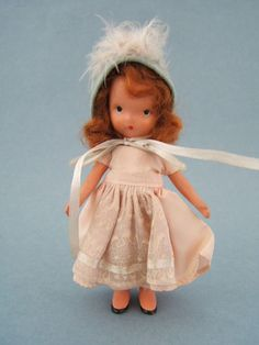 Vintage Bisque NASB Nancy Ann Storybook Roses Are Red Doll #113