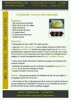 Dessert - Quindim : flan au coco brésilien - Tupperware