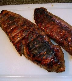 Coffee-Marinated Grilled Pork....coffee brings a rich aromatic taste to those pork pieces.... and look at the color.......!!!!