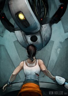 I love Portal. I love portal to a point I cannot stop thinking on portal. I love GLaDOS, I love Chell, I brought Portal 2 two times even when i was unab. Portal Wheatley, Portal Art, Valve Games, Aperture Science, You Monster, Just A Game, Indie Games, Dragon Age, Best Games
