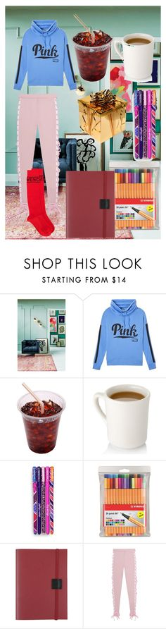 """""""Untitled #5758"""" by aurorazoejadefleurbiancasarah ❤ liked on Polyvore featuring Anthropologie, Victoria's Secret PINK, Vera Bradley, Stabilo, Undercover, Puma and Givenchy"""