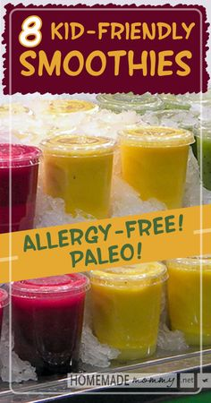 8 Kid Friendly Allergy Free #paleo Smoothies | www.homemademommy.net #recipe