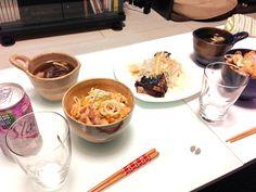 鶏肉食べたかったから。彼曰く今までで一番美味しいって(*^_^*) - 5件のもぐもぐ - 親子丼とカツオのたたき by maiko0310
