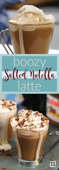 Imagine a drink that satisfies your sweet tooth and caffeine cravings, and gets your buzz on with just one cup. We're big fans of coffee, tequila, Nutella, and efficiency in general, so it's easy to see why we were totally hooked when we first heard about this boozy salted Nutella latte. It's an espresso, dessert, and cocktail all in one, and its deliciousness is paralleled only by how Instagram-able it is. You won't need a filter, but you might need a napkin.