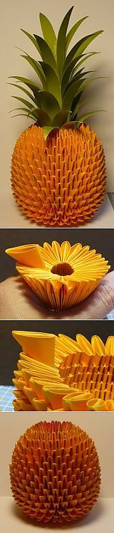 Делаем ананас в технике оригами..