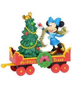 Department 56 Mickey's Christmas Village Collection Mickey's Holiday Tree Car
