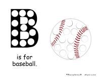 "Baseball Magnet Page (see site for ""Glove"" page also) Baseball Activities, Baseball Crafts, Alphabet Activities, Preschool Alphabet, Preschool Themes, Preschool Science, Preschool Activities, Preschool Lessons, Toddler School"