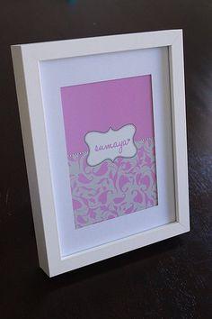 designer kids print in frame. personalised design. custom made graphic art name sign