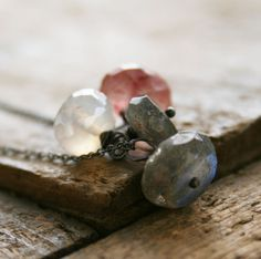 Labradorite quartz Mystic Pearl Chalcedony by jennreeseSEVEN