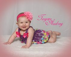 This is one of my baby girl's 6 month photos!