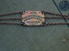 Ouija dainty bracelet mixed media jewelry simply stated Steampunk  Sarah Wood Halloween costume. $17.00, via Etsy.
