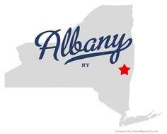 NEW YORK ALBANY   Map of Albany New York NY