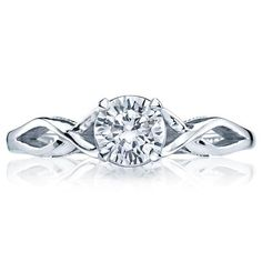 Shop online TACORI 51RD55 Solitaire 18K - White Gold Diamond Engagement Ring at Arthur's Jewelers. Free Shipping