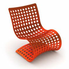 This is a fun chair and bet it would be great outdoors....airy and if it rained, the water would go right thru instead of puddling on the seat :-)