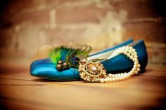 Shoe Clips Peacock & Rooster Feathers. Girls Night by sofisticata