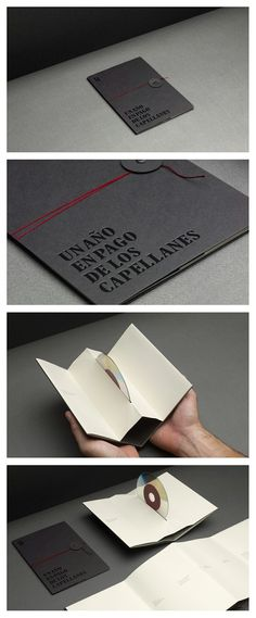 Really Good :) Strikingly Awesome Folding Book CD Packaging ~ Bashooka (.what a neat idea! Web Design Blog, Graphisches Design, Book Design, Creative Design, Print Design, Cd Cover Design, Label Design, Cd Packaging, Packaging Design
