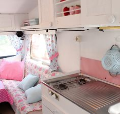 caravan interior. LIKE THE COUNTER TOP